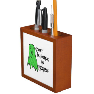 Ghost Hunting In Progress - Pick Background Color Pencil Holder