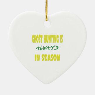 Ghost Hunting Season Christmas Ornament