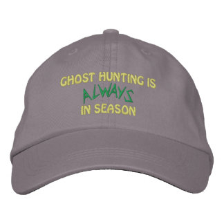 Ghost Hunting Season Embroidered Hats