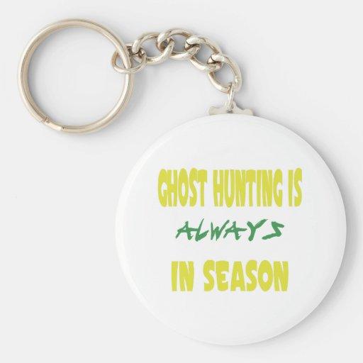 Ghost Hunting Season Keychain