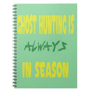 Ghost Hunting Season Spiral Notebooks