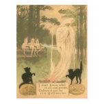 Ghost Jack O Lantern Black Cat Elves Post Cards