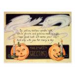 Ghost Jack O Lantern Candles Vintage Halloween Post Card