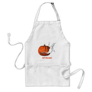 Ghost Jack O Lantern Halloween Funny Apron