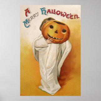 Ghost Jack O Lantern Pumpkin Child Print