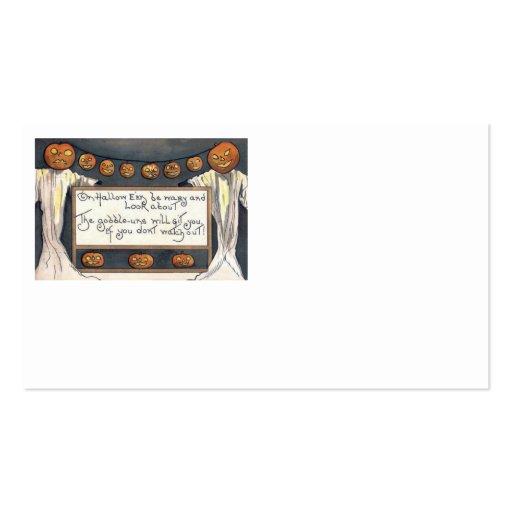 Ghost Jack O Lantern Pumpkin Scarecrow Business Cards