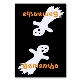Ghost Kids Halloween Party Tented Place Cards
