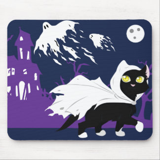 Ghost Kitty Mouse Pad