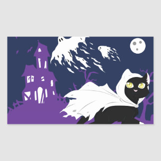 Ghost Kitty Stickers