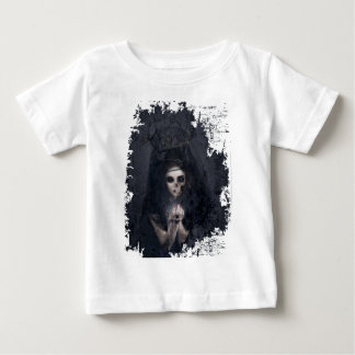Ghost Lady Haunting Skull Skeleton Baby T-Shirt