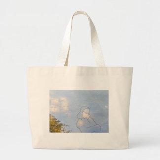 Ghost Large Tote Bag