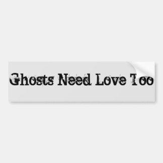 ghost love bumper sticker