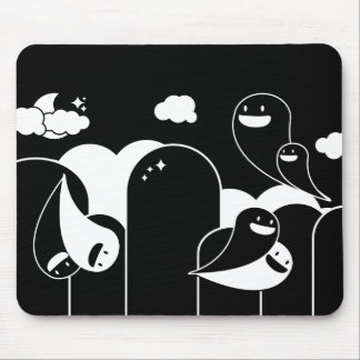 ghost love mouse mat