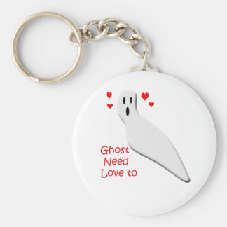 Ghost need love basic round button key ring