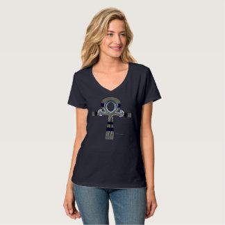 Ghost of Ankh Ladies Nano V-Neck T-Shirt