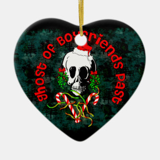 Ghost of Boyfriends Past Double-Sided Heart Ceramic Christmas Ornament