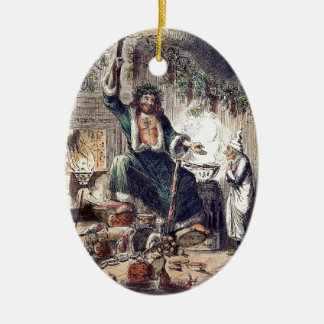 Ghost of Christmas Present with Scrooge Christmas Ornament