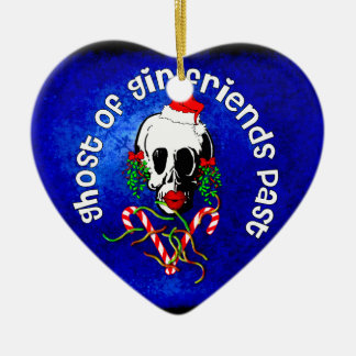 Ghost of Girlfriends Past Double-Sided Heart Ceramic Christmas Ornament