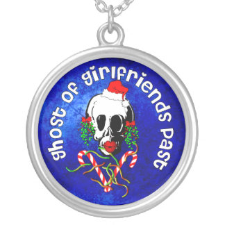 Ghost of Girlfriends Past Round Pendant Necklace