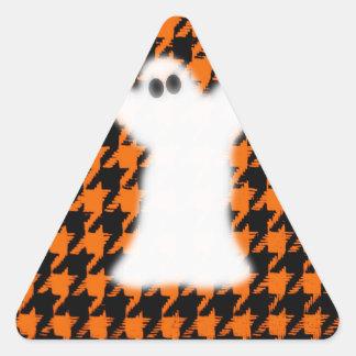 Ghost On Halloween Houndstooth Sticker