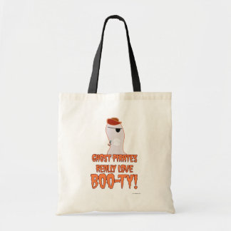 Ghost Pirate Halloween Slogan Tote Bag
