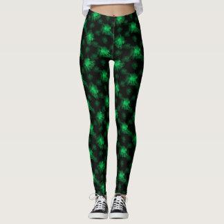 Ghost Pony Green Leggings