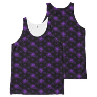 Ghost Pony Purple All-Over Print Tank Top
