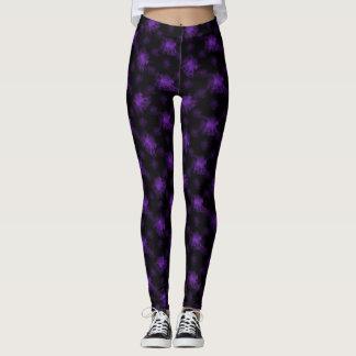 Ghost Pony Purple Leggings
