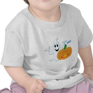 Ghost Pumpkin Boo! Halloween Design Shirts