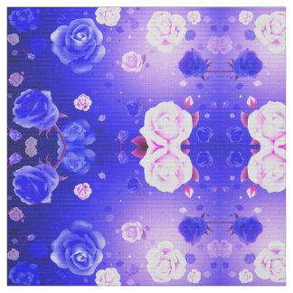 Ghost Roses Purple Fabric
