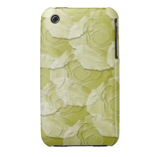 Ghost Roses with Your Choice Background Color iPhone 3 Cases
