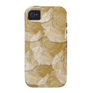 Ghost Roses with Your Choice Background Color Vibe iPhone 4 Cases