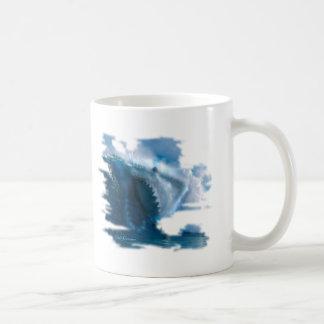 Ghost Shark in Wave Coffee Mug