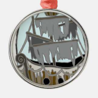 Ghost Ship Christmas Ornament