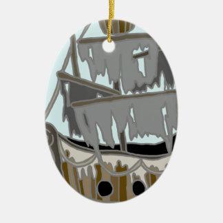 Ghost Ship Christmas Ornament