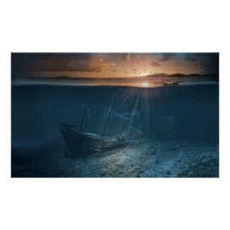 Ghost ship series: Pirate shipwreck Poster