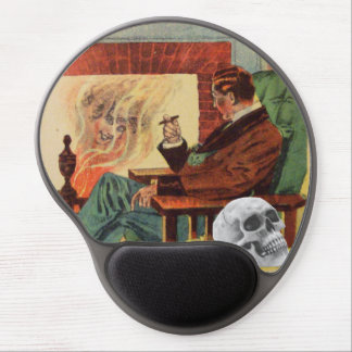 Ghost Skull Man Pipe Fire Spirit Gel Mouse Pad