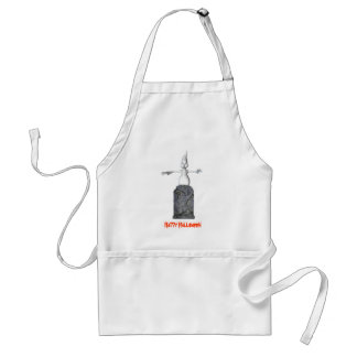 Ghost Tombstone Halloween Funny Apron