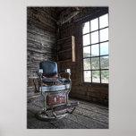 Ghost Town Barber Chair - Bannack Montana Print