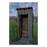 Ghost Town Outhouse - Montana Poster