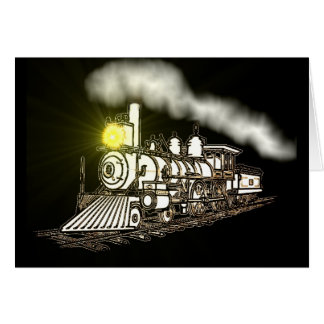 Ghost Train Greeting Cards