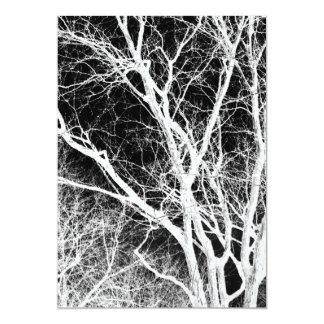 ghost tree 13 cm x 18 cm invitation card