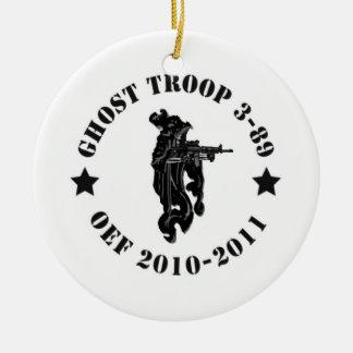 Ghost Troop Round Ceramic Decoration