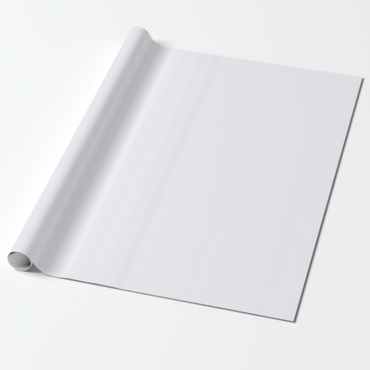 Ghost White Matte Wrapping Paper