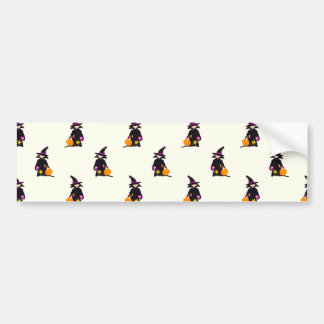 Ghost White Off-White Halloween Toddler Witch Bumper Sticker