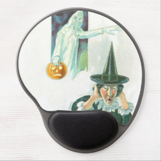 Ghost Witch Jack O Lantern Gel Mouse Mat