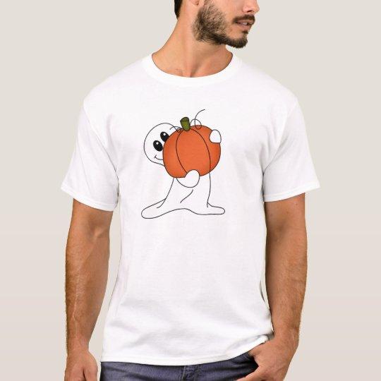Ghost with Orange Pumpkin T-Shirt