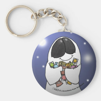 Ghost with the Most Basic Round Button Key Ring