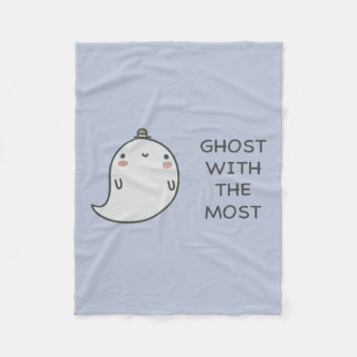 Ghost With The Most Fleece Blanket