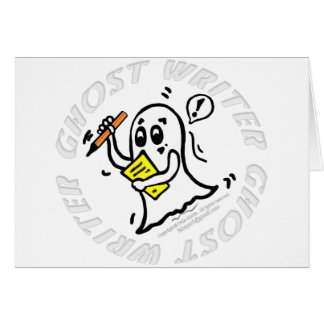 Ghost Writer funny comics writting Haloween author Greeting Card